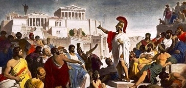 Pericles speaking in Athens agora!