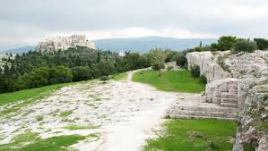 Pnyx and in The background Akropolis